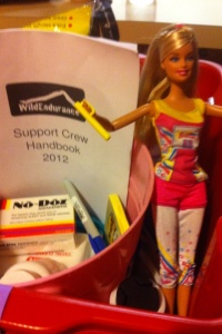 Marathon Barbie was part of our supporter kit for Wild Endurance
