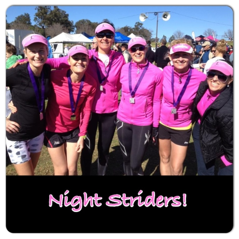 Hanging out with the Night Striders after the Race. Photo Credit: Matthew Roberts.