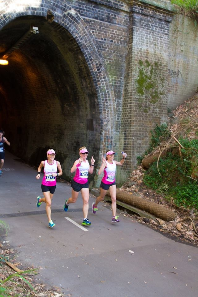 Kirby, Helen and Nic at the 2km mark.