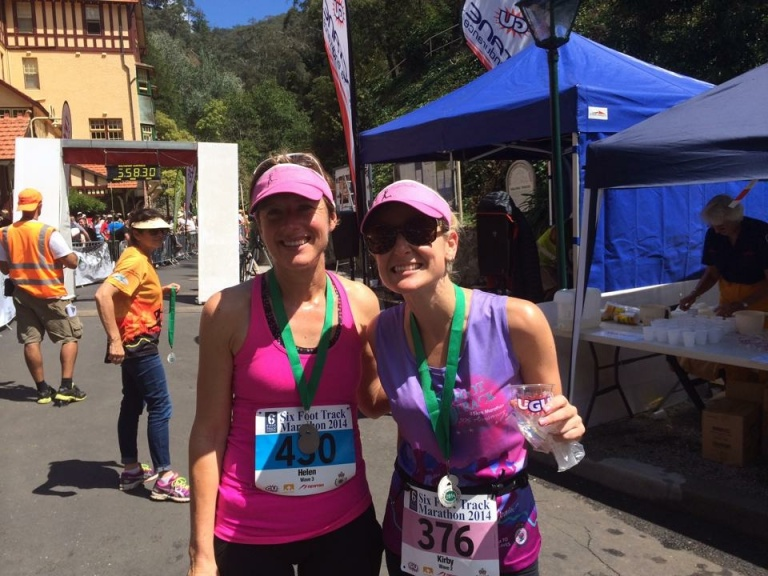 Ultra marathon complete! Helen and I at the finish line.
