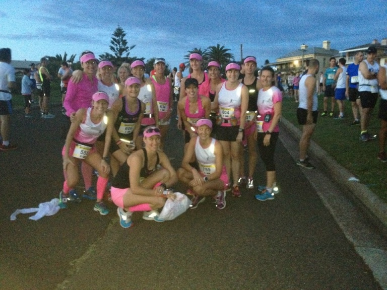 Night Striders at the start line.