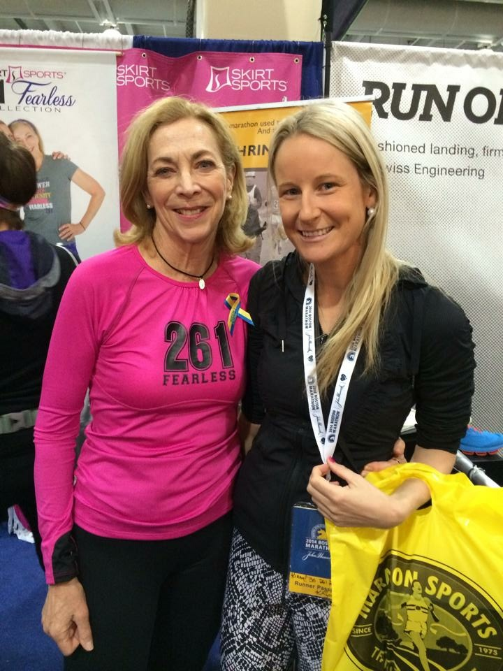 Kathrine Switzer and me.