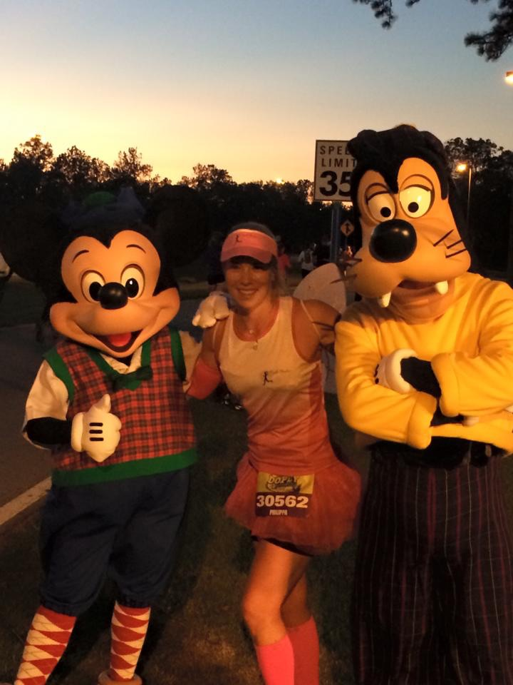 Pip with Mickey and Goofy.