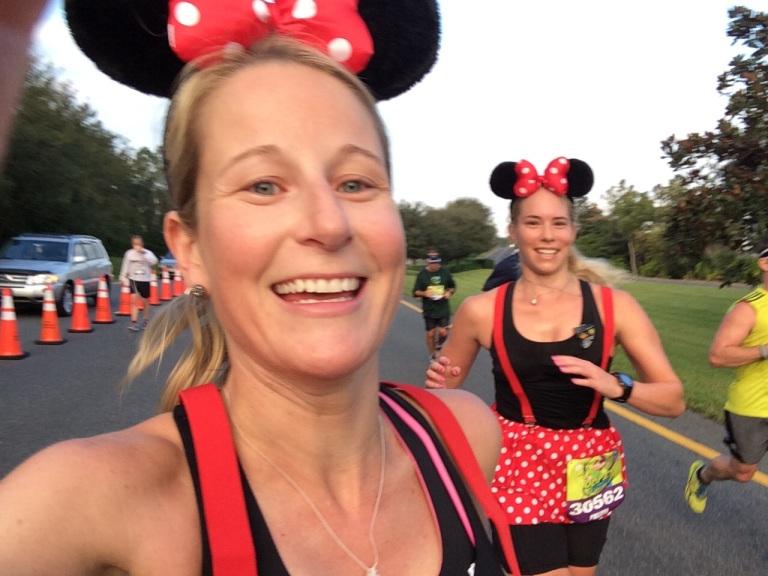 Mid-marathon selfie!
