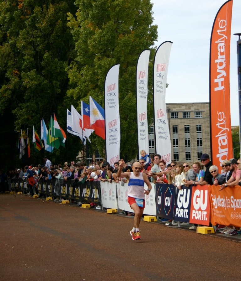 Ray James completes his 200th marathon.