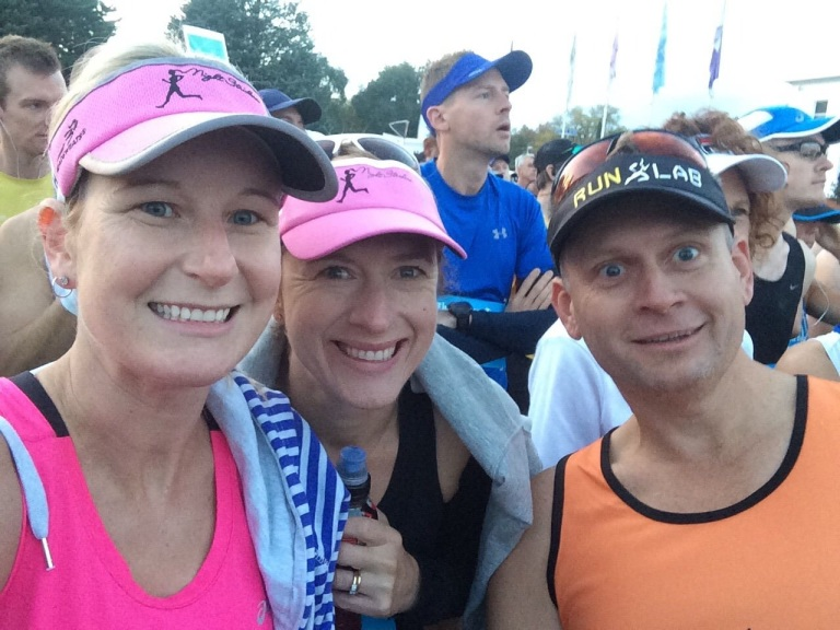 Me, Helen and Neil on the start line.