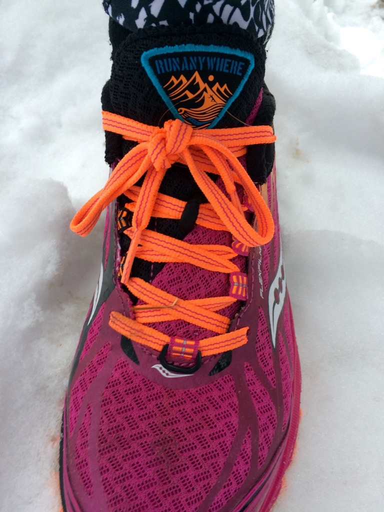 The shoe performed well in the snow.