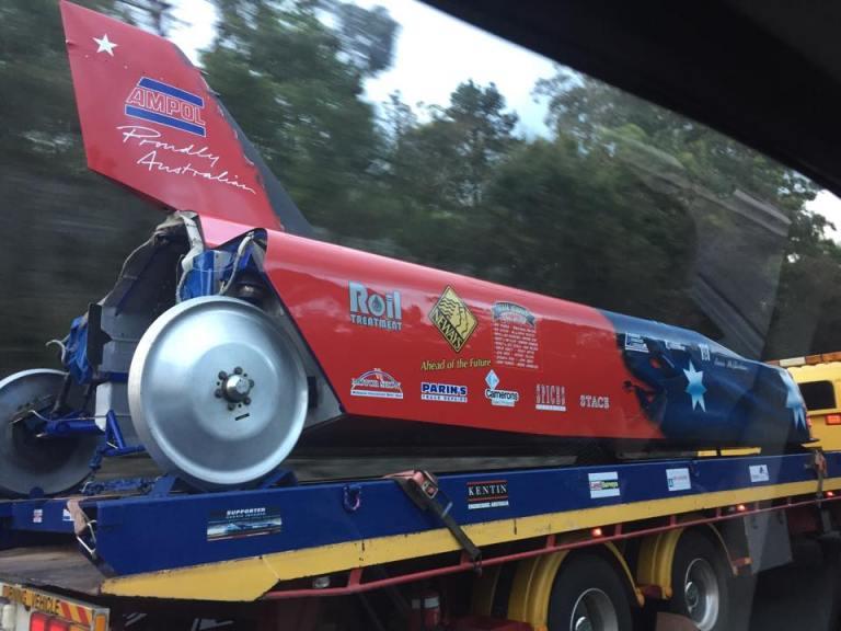 Passing the fastest car in Australia.