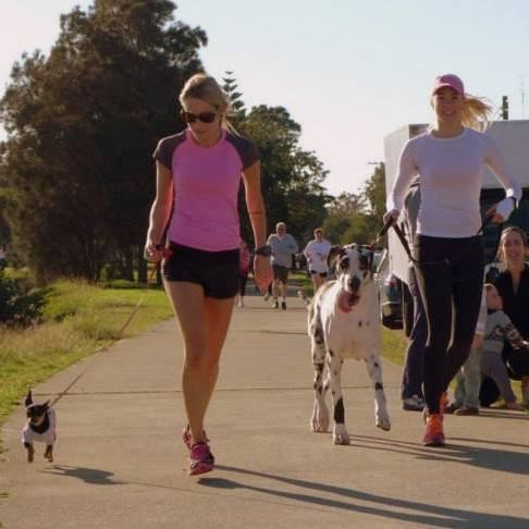 Nobody told Tequila the Chihuahua or Aspen the Great Dane that they weren't supposed to be good runners...
